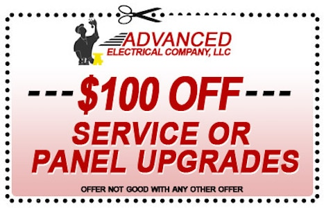 $100 off service or panel upgrades